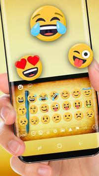 Yellow Notes Drawing Keyboard Theme Notepad apk screenshot