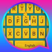 Yellow Box Theme&Emoji Keyboard icon