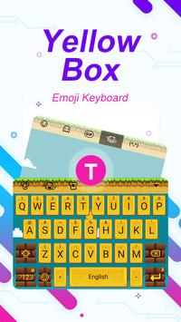 Yellow Box Theme&Emoji Keyboard poster
