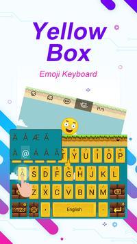 Yellow Box Theme&Emoji Keyboard apk screenshot