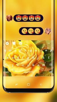 Yellow Flower HD Keyboard Love Rose Theme poster