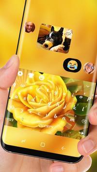 Yellow Flower HD Keyboard Love Rose Theme screenshot 2