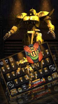 Yellow Robot Keyboard Theme apk screenshot