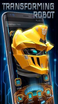 3D Handsome Steel Robot Theme poster
