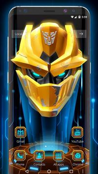 3D Handsome Steel Robot Theme apk screenshot