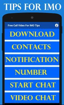 Free Call Video For IMO Tips screenshot 1