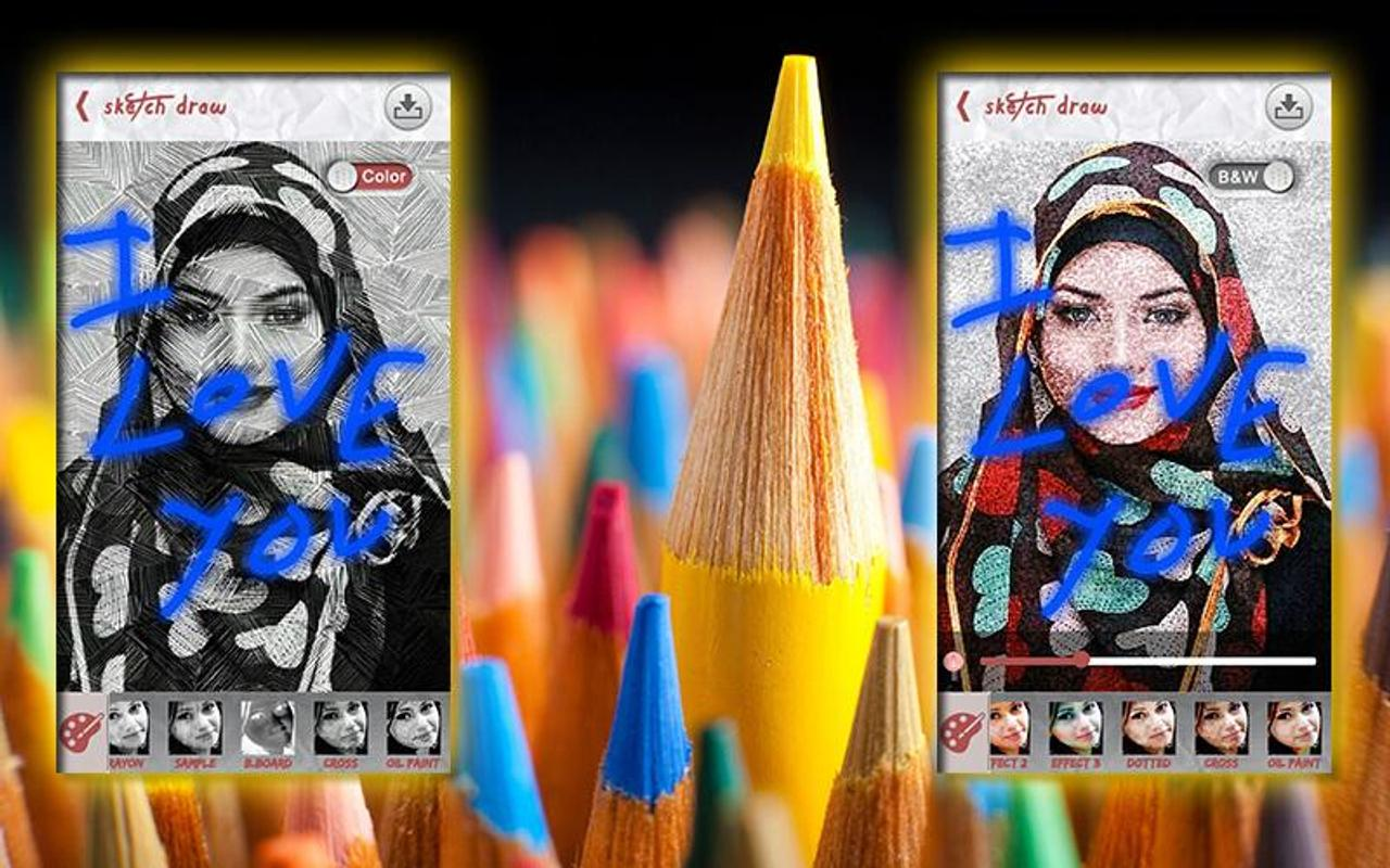 Pencil sketch photo maker 2017 screenshot 5
