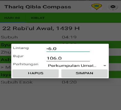 Thariq Qibla Compass screenshot 2