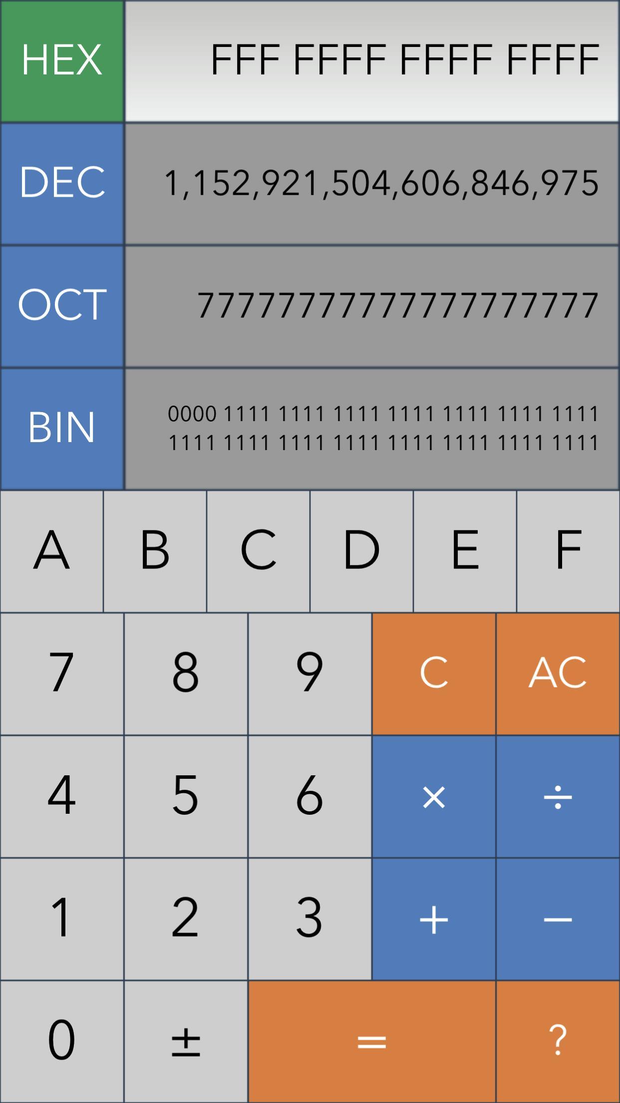 Hex,Dec,Oct,Bin(Dev Calc) for Android - APK Download