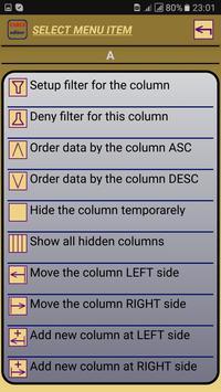 Таблица редактор CSV apk screenshot