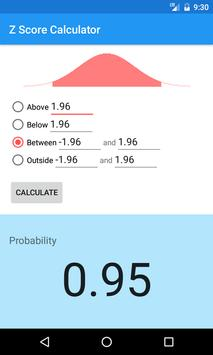 Z Score (Z Table) Calculator for Android - APK Download