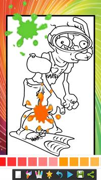 coloring book for zombie and plats coloring page apk screenshot