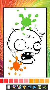 coloring book for zombie and plants apk screenshot