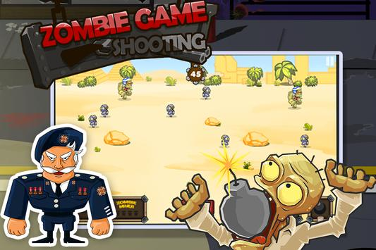 Zombie Game Shooting poster