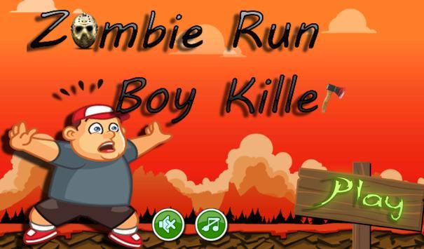 zombie run boy killer poster