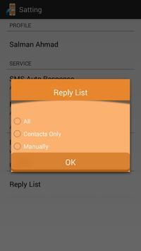 SMS Auto Reply screenshot 1