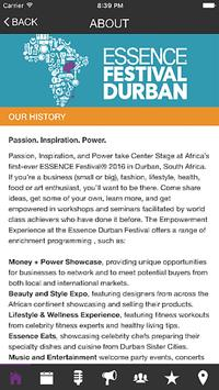 Essence Festival Durban 2016 apk screenshot