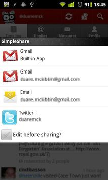 SimpleShare apk screenshot