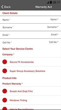 SFA Warranty Activation screenshot 3