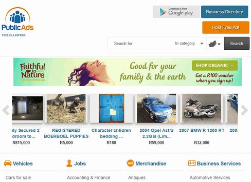 Public Ads - Free Classifieds apk screenshot