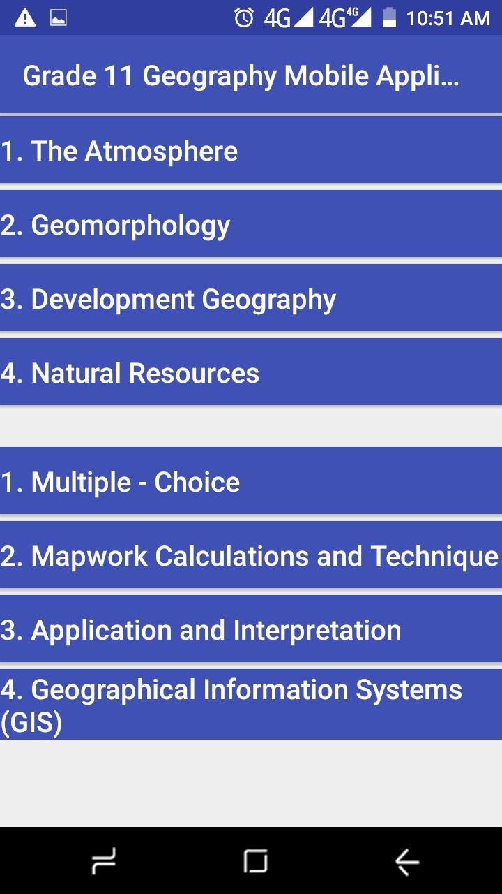 Grade 11 Geography Mobile Application for Android - APK Download