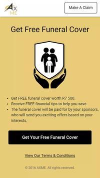 AxMe Free funeral cover apk screenshot