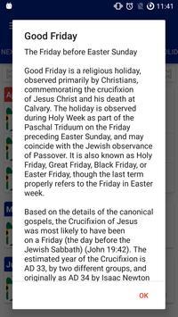 SA - Holidays (Public+School) apk screenshot