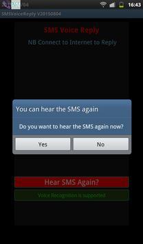 SMS Voice Reply apk screenshot