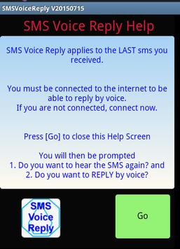 SMS Voice Reply poster