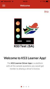 K53 SA Learner Test poster