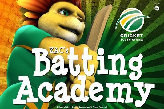 ZAC's Batting Academy poster