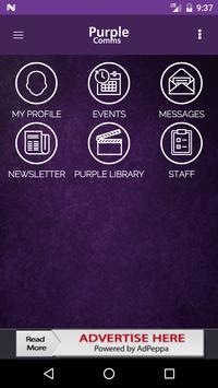 Purple Comms poster