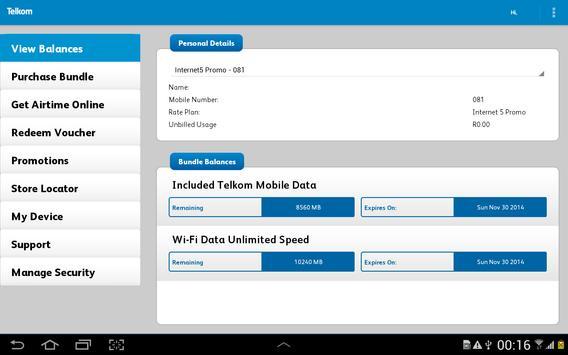 Telkom Mobile screenshot 7
