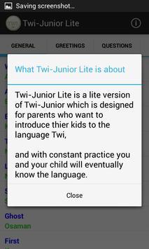 Twi-Junior Lite screenshot 2