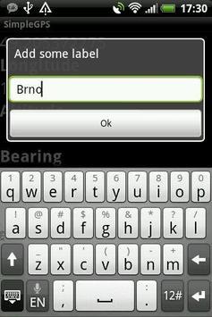 Simple GPS screenshot 1