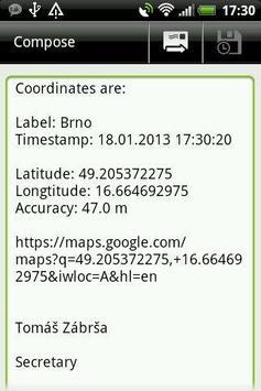 Simple GPS screenshot 2