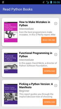 Read Python Books poster