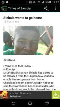 Zambian Daily News apk screenshot