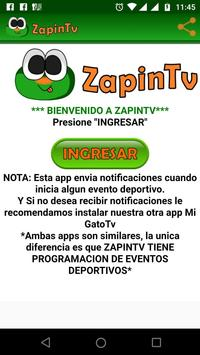 Zapin Tv captura de pantalla 1