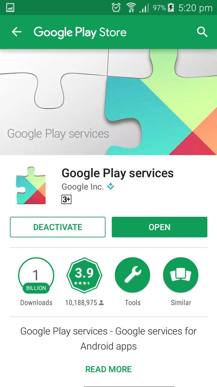 Play store & Play Services Info with Widget for Android