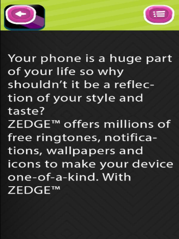 Guid Fr Zedge Free Ringtones Screenshot 15