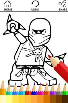 Coloring For Ninjago Fans poster