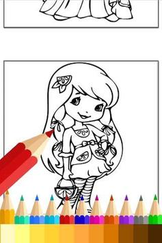 Coloring For Strawberry Girls apk screenshot