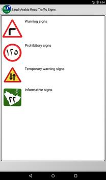 Road signs (Traffic signs) in Saudi Arabia poster