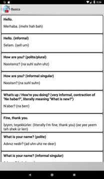 Turkish phrasebook screenshot 1