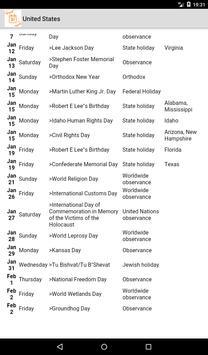 Holidays and Observances around the world screenshot 4