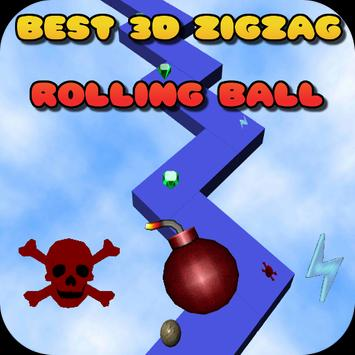 best 3D zigzag roll the ball poster