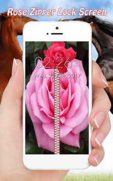 Rose Zipper Lock Screen poster
