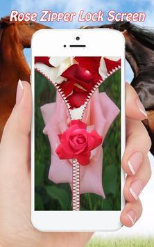 Rose Zipper Lock Screen screenshot 4