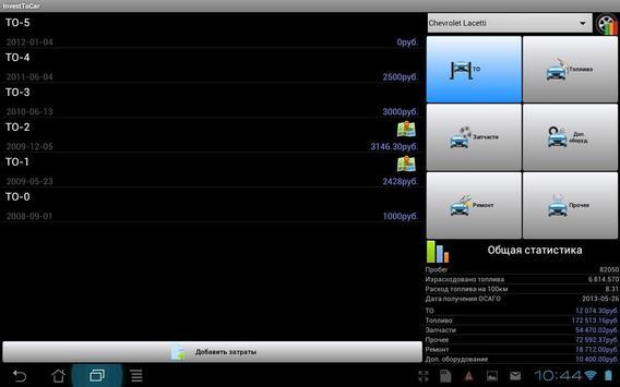 Расходы на автомобиль apk screenshot